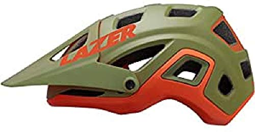Lazer Impala Fahrradhelm für Erwachsene, Unisex, Khaki/Orange (Mehrfarbig)