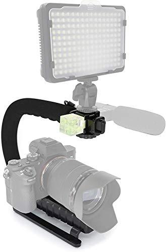 MyGadget Brazo Estabilizador de Cámara con Soporte Universal [ 3 zócalo] para Video Cámaras como Canon,Nikon,Sony,Olympus,Fujifilm - Negro