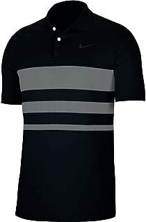 Dri-Fit Vapor Polo Stripe Golf Shirt - Black/Smoke Grey