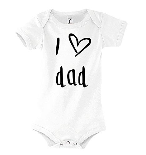 Youth Designz Baby Strampler Modell I Love DAD, Gr. 3-6 Monate, Weiß