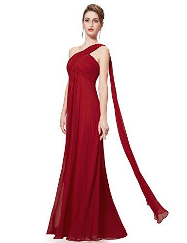 Ever-Pretty Womens Elegant One Shoulder Trailing Evening Dress 14 US Burgundy
