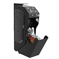 【DESK-MOUNTED DESIGN】-Well design stores great under a desk or nightstand, discreetly on a bookshelf, or inconspicuously in a vehicle. For added convenience, mountable from right, left, or top side, depending on desired preference. 【HANDGUN SAFE】 - I...