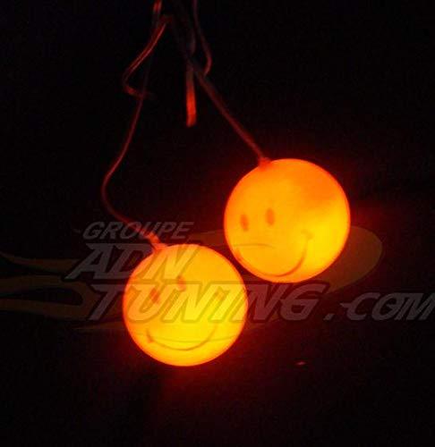 Smileys lumineux orange - 12V - 666-CaL ADNAuto