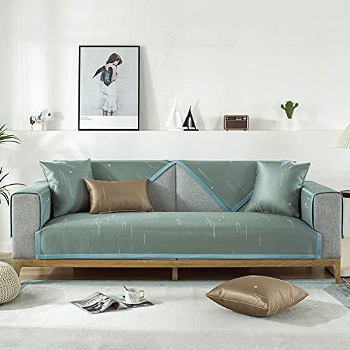 Sofa Abdeckung 1,2,3,4-Sitzer, Couchbezug, Rückenlehne Handtuch für Haustiere Kinder Kinderhundkatze-90x180 cm_Grün-A.-Verkauft in stück