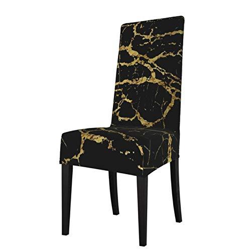 TOBEEY Fundas elásticas para sillas de comedor antideslizantes de respaldo alto para silla de comedor con textura de mármol negro para banquetes