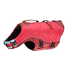 Kurgo Dog Water Life Jacket | Inflatable Safety Jacket for Dogs | Lifejacket Doggy Floats | For Kayak, Pool, or Lake | Reflective | Adjustable | Surf n' Turf Life Jacket | For Small Medium Large Pets