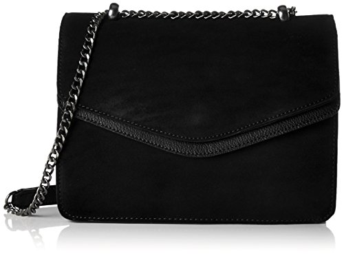 PIECES Damen Pctahira Suede Cross Body Dc Umhängetasche, Schwarz (Black), 10x20x27 cm