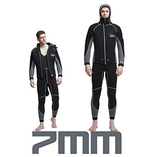 JSX mannen 7mm neopreen wetsuit 2 stuk split hoed wetsuit zwemmen snorkelen wetsuit set