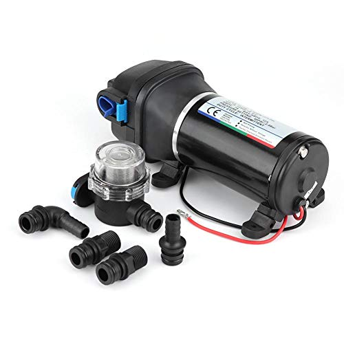 12V Membranpumpe, 4.5GPM 17 L/Min 40PSI Membran Selbstansaugende Wasserpumpe mit automatischem Druckschalter