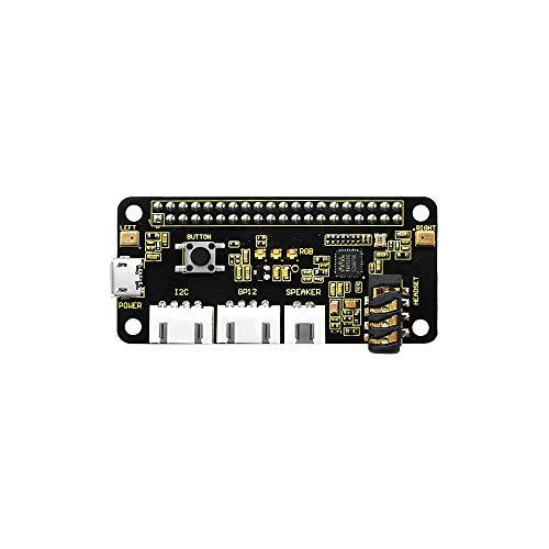 KEYESTUDIO Respeaker 2-Mic Pi Hat v1.0 per Raspberry Pi 4 Module Zero e Zero W, Raspberry Pi B +, Raspberry Pi 2B e 3B/4B