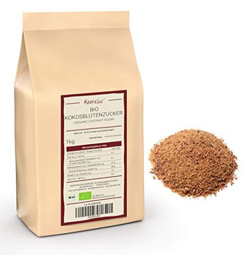 1kg BIO Kokosblütenzucker – coconut sugar brauner Zucker fein als natürliche Alternative zu raffiniertem Zucker