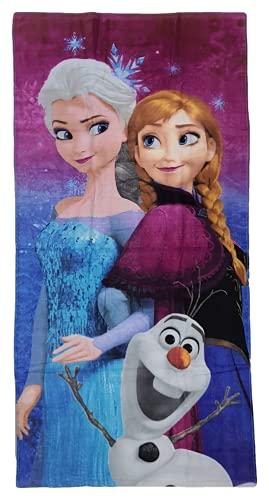 Generico Strandtuch Frozen Disney Elsa Anna Olaf Badetuch aus Baumwolle 140 x 70 cm - 45032/2