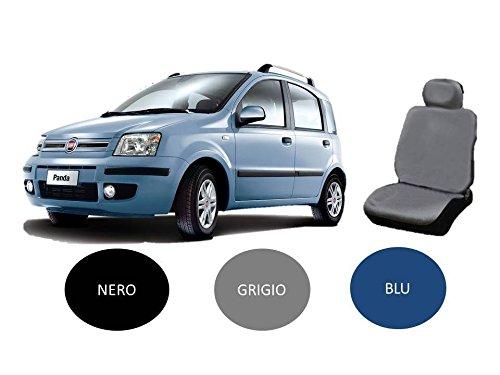 X-ONE ACCESSORI COPRISEDILE Set Completo su Misura per Fiat Panda 2003-2004 - 2005-2006 - 2007-2008 - 2009-2010 - 2011 Completo di POGGIATESTA (Grigio)