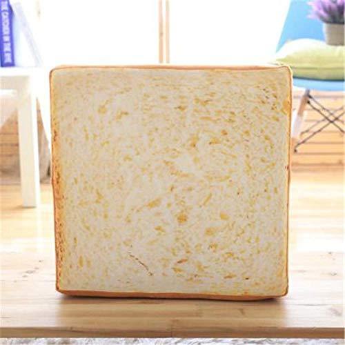 XWYWP Peluche 40 * 40CM Lindo Suave Pan Blanco cojín niños cumpleaños Regalo hogar panadería...