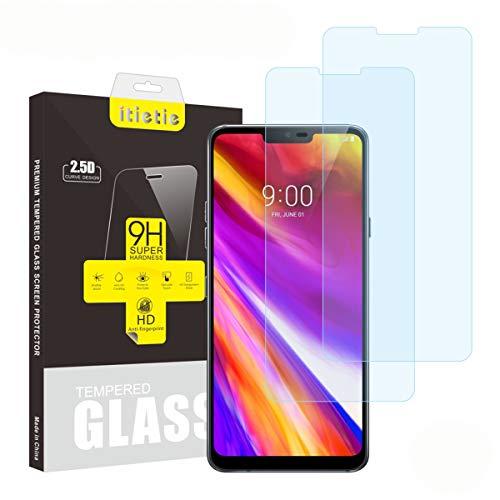 iTieTie 2 Stück Panzerglas Schutzfolie G7 ThinQ, Blasenfreie, Hochauflösend, 9H Härte, Premium gehärtetes Glas Displayschutzfolie für LG G7 ThinQ