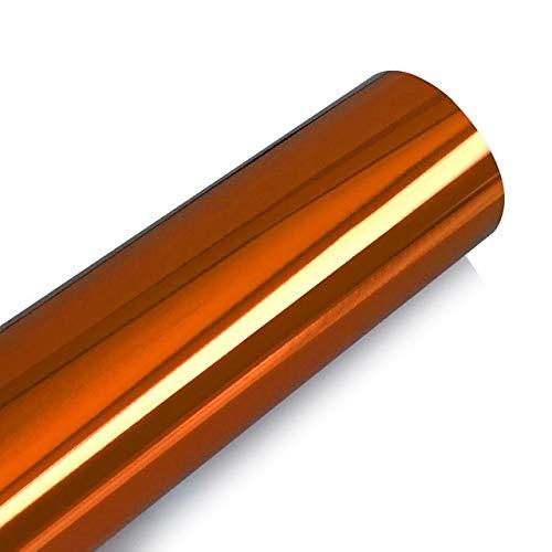 QiuKui 100 * 30CM DIY Wrapping Blatt Aufkleber Automobil Motorrad-LKW-Auto-Styling-Zubehör Chrom-Spiegel-Vinylfilm-Folien-Autoaufkleber (Color Name : Orange)