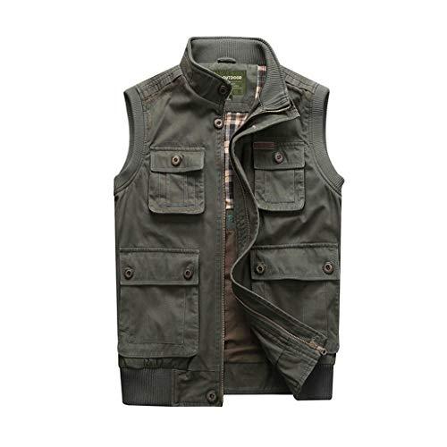 HXF- Tooling vest Outdoor multi-pocket vest Fotografie visvest Dun vest De voor- en achterkant kan gedragen worden Opstaande kraag ontwerp Houd warm