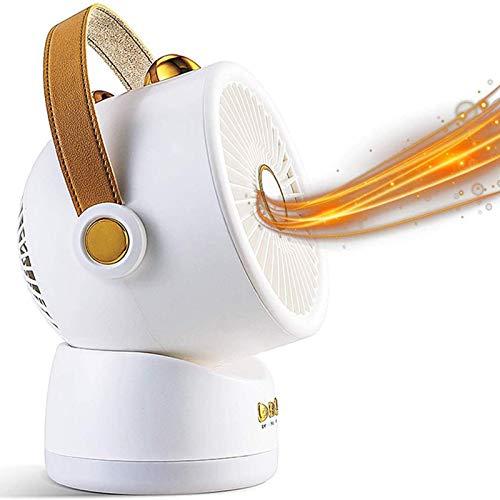 XIANGAI Calefactor Pequeños electrodomésticos de Habitaciones Calentador eléctrico, Calentador de Ventilador pequeño, con 3 Niveles de Temperatura de Ajuste y 60 ° Swi.