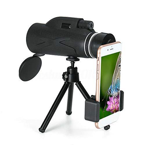 BAK4 80X100 Zoom HD Objektiv Prisma Wandern Monokular Teleskop + Telefonclip + Stativ Geeignet für Reisen im Freien Camping Camping Vogelbeobachtung