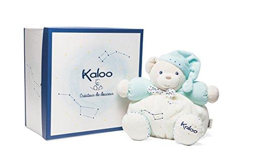 Kaloo - Colección Petite Etoile Osito Gordinflón de peluche fosforescente turquesa, 25 cm (K960292)