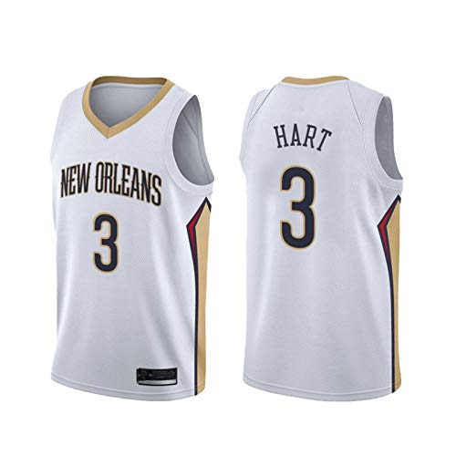 Hombre Pelicǎns # 3 HǎRT Baloncesto Swingman Jersey, Tejido de Malla Transpirable, Camisa de Jersey Unisex sin Mangas WhiteA-L