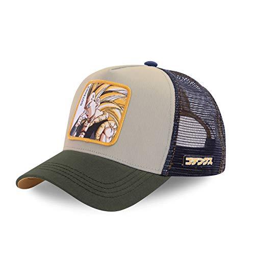 Capslab - Gorra de béisbol de estilo camionero, diseño de Dragon Ball Z Gotenks Gris Talla única