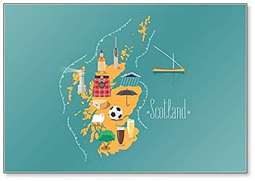 Kaart van Schotland Illustratie - Klassieke Koelkast Magneet
