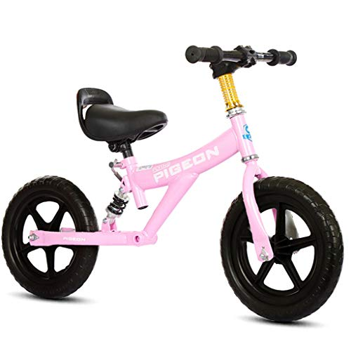 Laufräder Specialized Sport Balance Bike - Leichtes Sport Push-Fahrrad für 1/2/3/4/5/6 Jahre alte Jungen und Mädchen, Kleinkinder/Kinder erstes Fahrrad, 12 Zoll (Color : Pink)