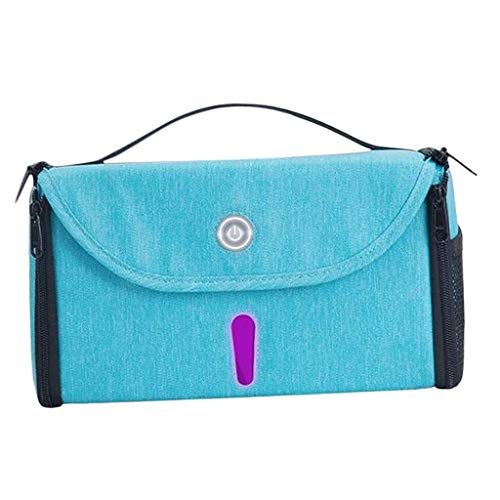 Generic Bolsa de Limpieza UV Caja de Esterilización Portátil Bolsa de Desinfección para Bebés Suministros para Mascotas - Azul