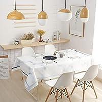 防水テーブルクロス、ホワイトテーブルクロスのために長方形のテーブル、休日テーブルクロス長方形、クリスマステーブルクロス長方形 (Color : A, Size : 45*70inch)
