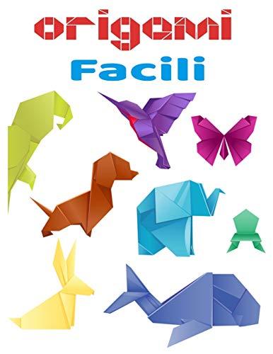 Origami facili: libro a colori |libro origami animali | libro origami per bambini 3 anni e più ideale per un regalo