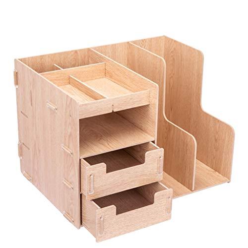 Archivo Revista Titular Archivo madera rack multifuncional Organizador de escritorio y almacenamiento de escritorio simple del archivo clasificador vertical rack Material for oficina Bandeja de Papel
