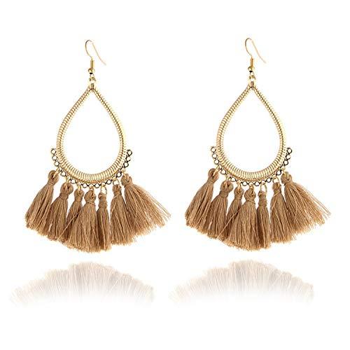 Sunwd Mujer Pendientes, Fashion Pearl New Girls Earing Brincos Bijoux Blue Zircon Drop Earrings For Women Wedding Jewelry One Direction Earrings e0266brown