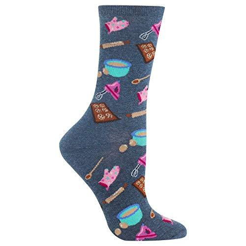 Hot Sox Women's Baking Socks, Denim, Medium