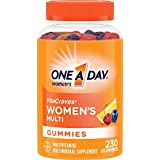 One A Day Women's VitaCraves Multivitamin Gummies, Supplement with Vitamin A, Vitamin C, Vitamin D, Vitamin E and Zinc for Immune Health Support*, Calcium & more, 230 count