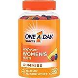 One A Day Women's Multivitamin Gummies, Supplement with Vitamin A, Vitamin C, Vitamin D, Vitamin E and Zinc for Immune Health Support, Calcium & more, Orange, 230 count
