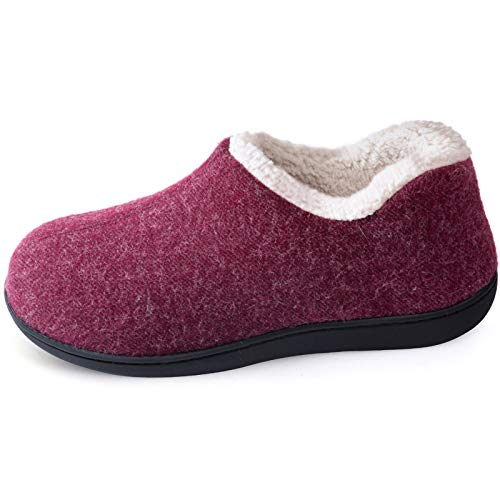 ULTRAIDEAS Women's Cozy Memory Foam Closed Back Slippers with Warm Fleece Lining, Wool-Like Blend...