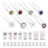 172 Pack Flower Rhinestone Crystal Glitter Sparkly U Shape Bobby Pin...