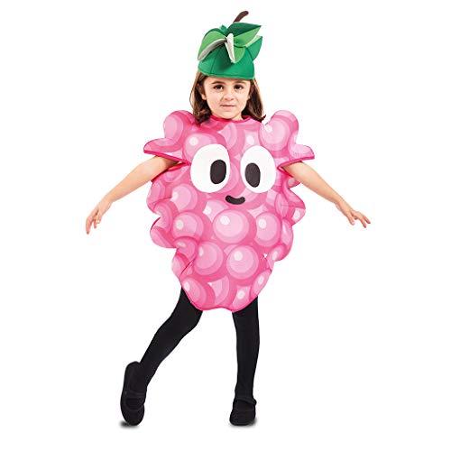 EUROCARNAVALES Kinder Kostüm Früchtchen 3-4 Jahre Frucht-Verkleidung Obst (Weintraube)