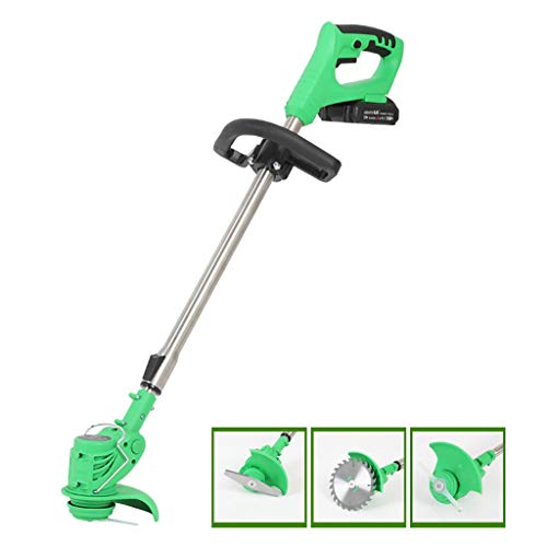 Find Discount Portable Electric Lawn Mower Agricultural Cordless Grass Garden Edge Trimmer Rechargea...