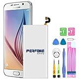Perfine 2750mAh Batería para Samsung Galaxy S6, EB-BG920ABE, G920A, G920P, G920T, G920V, G920F con Kits de Reparación