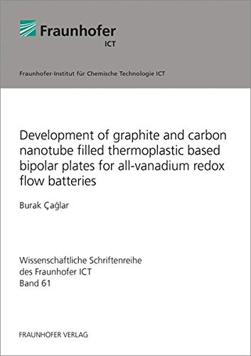 Development of graphite and carbon nanotube filled thermoplastic based bipolar plates for all-vanadium redox flow batteries. (Wissenschaftliche Schriftenreihe des Fraunhofer ICT, Band 61)