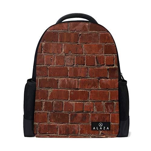 College Rucksack 3D Brick Wall Laptop Bookbags Reisetasche für Männer Frauen