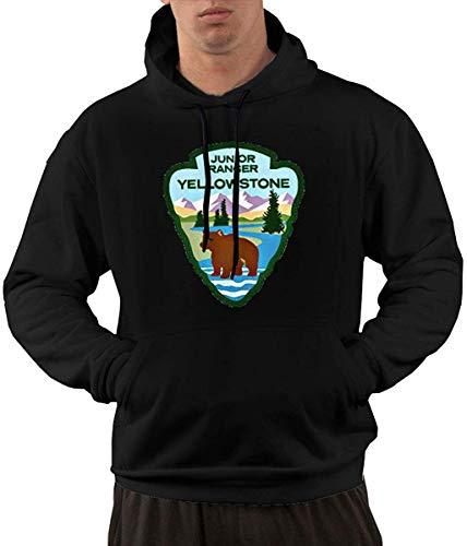 yuhuandadi Mens Service Parc National de Yellowstone Manches Longues à Capuche Sweatshirts