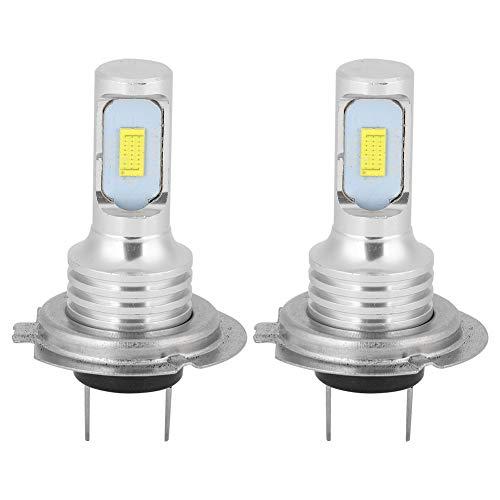 Bombilla de luz antiniebla LED 2 piezas 80W 6000K Universal H7 LED Lámpara de luces antiniebla de coche súper brillante Blanco 12-24V
