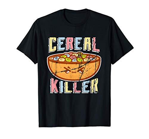 Cereal Killer Vintage Kawaii Petit Déjeuner Bol De Céréales T-Shirt