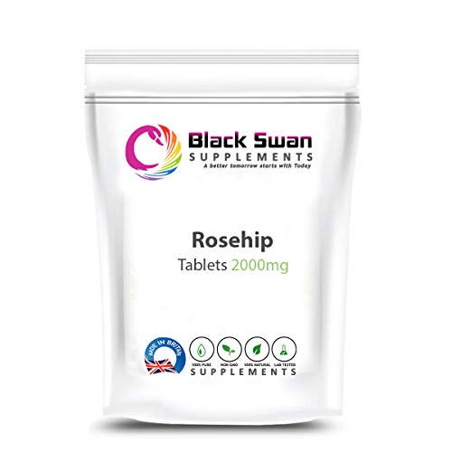 Black Swan Rosehip 2000 mg Tablets – with high Anti-oxidant Properties – Healthy Joints – Healthy Skin – Healthy Immune System – with Vitamin c (30 tabs)
