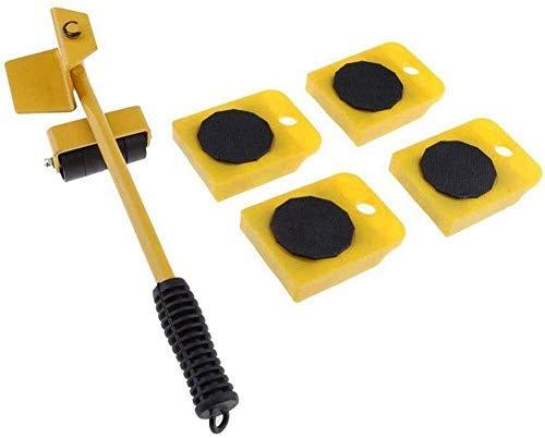 genneric Möbel Umzug System/Hebewerkzeug, 1 Hubstange und 4 Bewegungsrollen, Verschieben Werkzeuge Max for 150kg / 330 LB, 360 Grad drehbar Pads