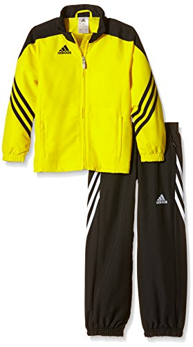 adidas Kinder Trainingsanzug Sereno 14,Top:Sun/Black/White Bottom:Black/White,164