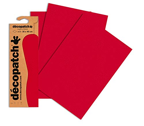 Decopatch Papier No. 724 (rot Farbsprenkel, 395 x 298 mm) 3er Pack